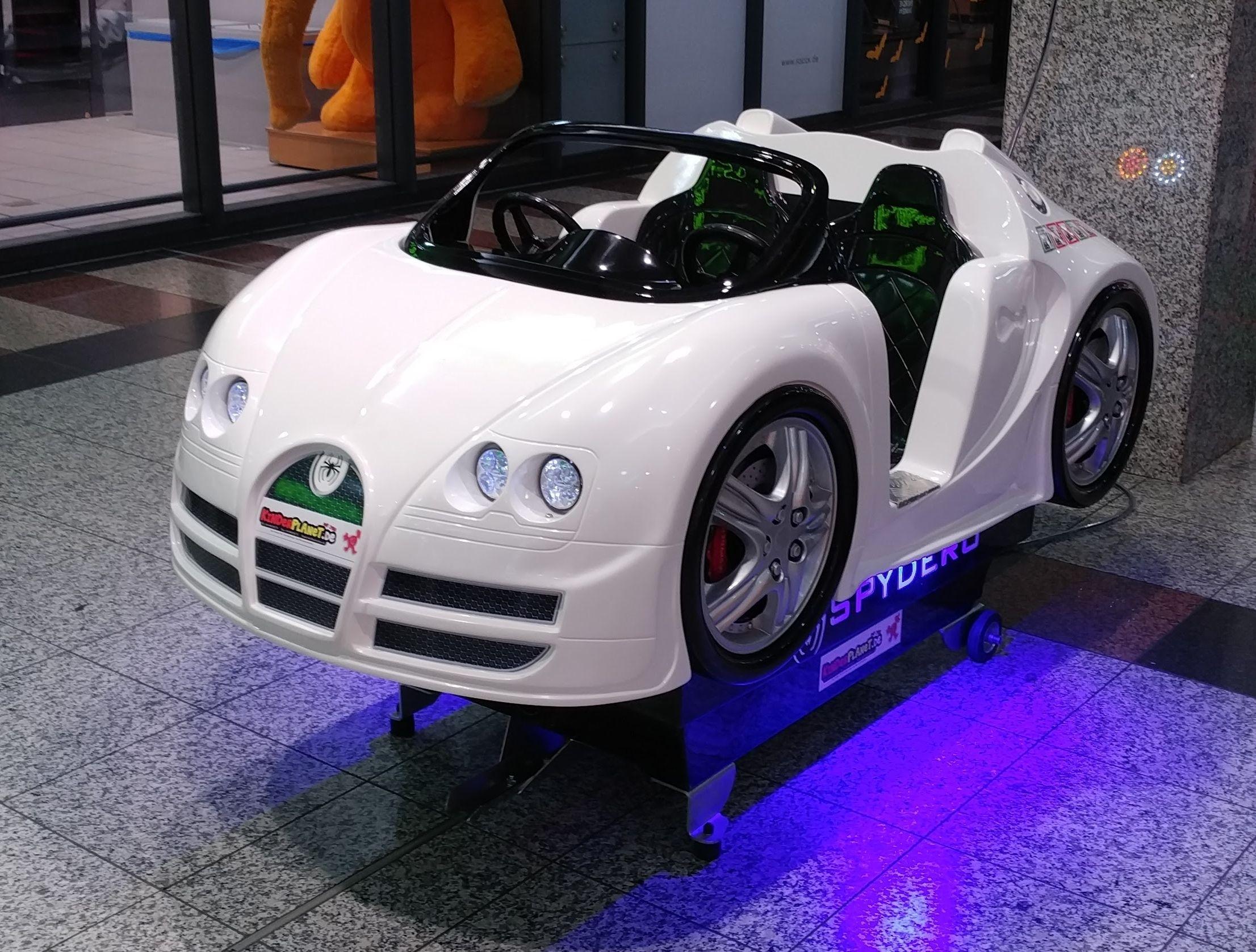 Schneeweisser Rennwagen mit LED im Bugatti Look!