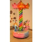 Karussell 2 x Pony in Pastellfarben mit LED