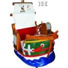 Piratenschiff Roter Korsar mit zwei Sitzplätzen