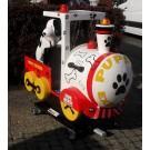 Lokomotive mit Dalmatiner, der Puppy Express