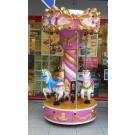 Nostalgie Karussell mit 2 bewegten Pferden + Wagen Pretty in pink!