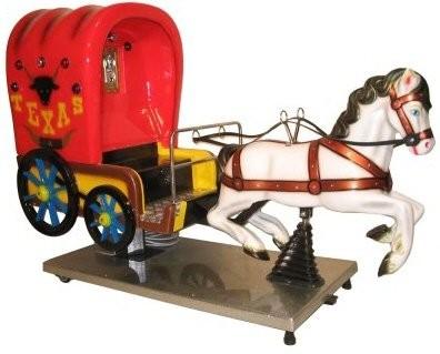 Kutsche mit Pferd, der Westernwagen