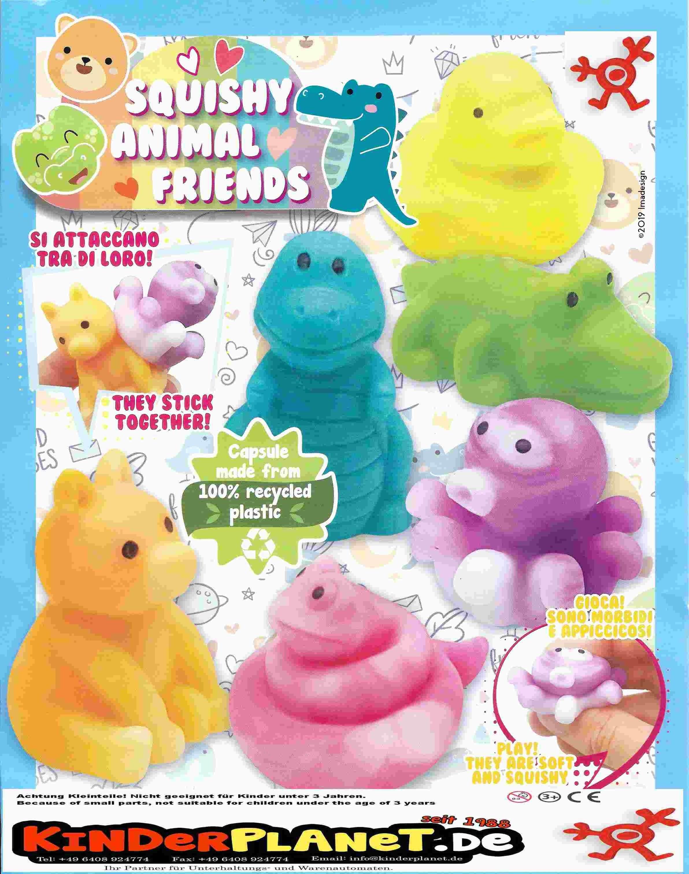 Squishy Animal Friends in 55mm Kapsel - der Spielspass