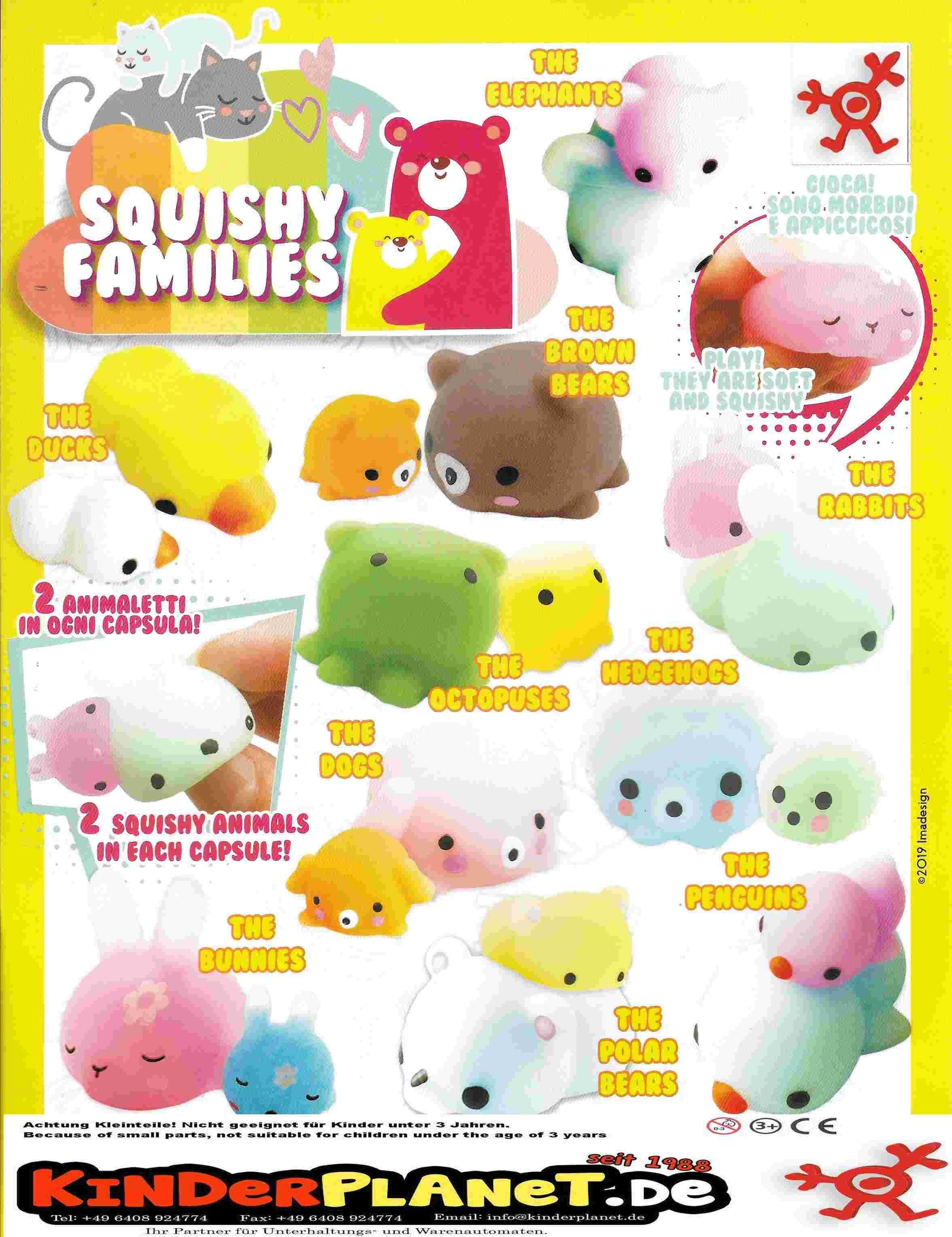 Squishy Families in 55mm Kapsel - der Spielspass