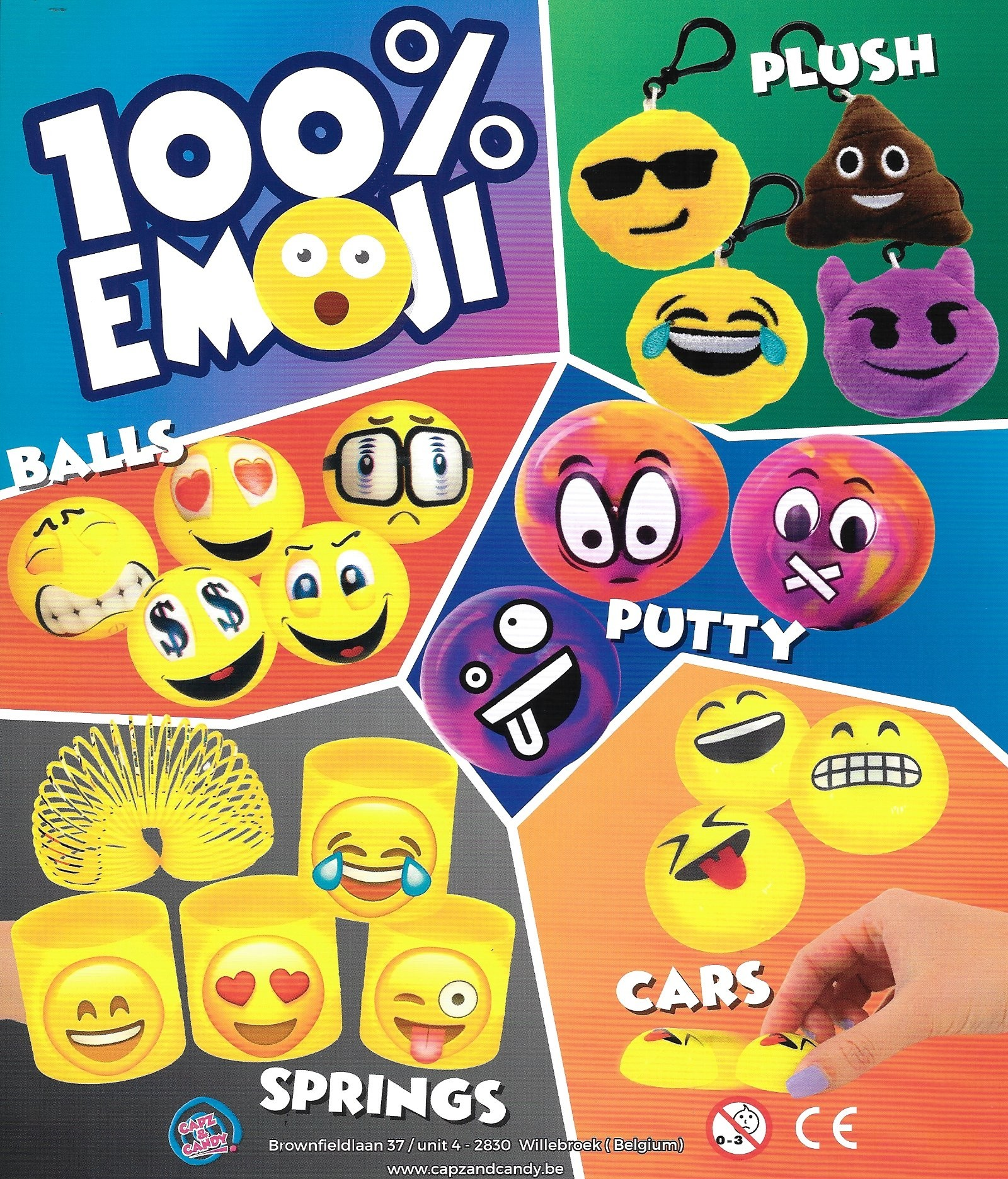 100% Emoji in  55mm Kapsel
