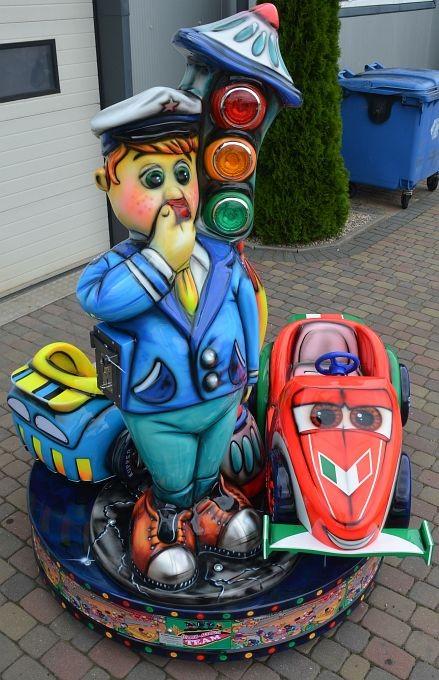 Karussell Polizist mit 2 Rennwagen