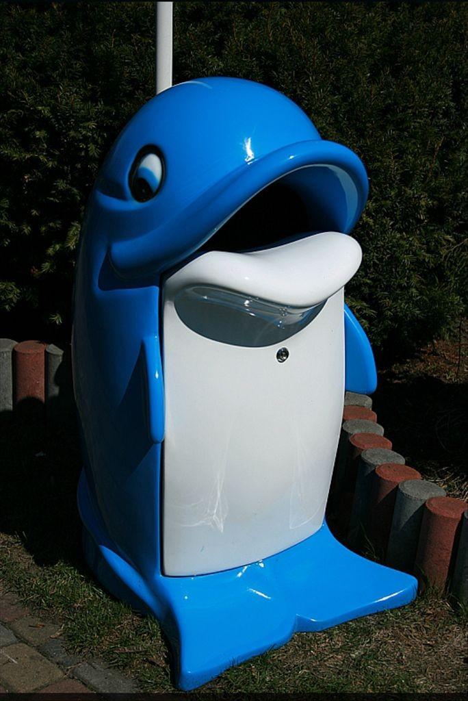 Kinderplanet sprechender mulleimer delphin mit led for Mülleimer doppelt