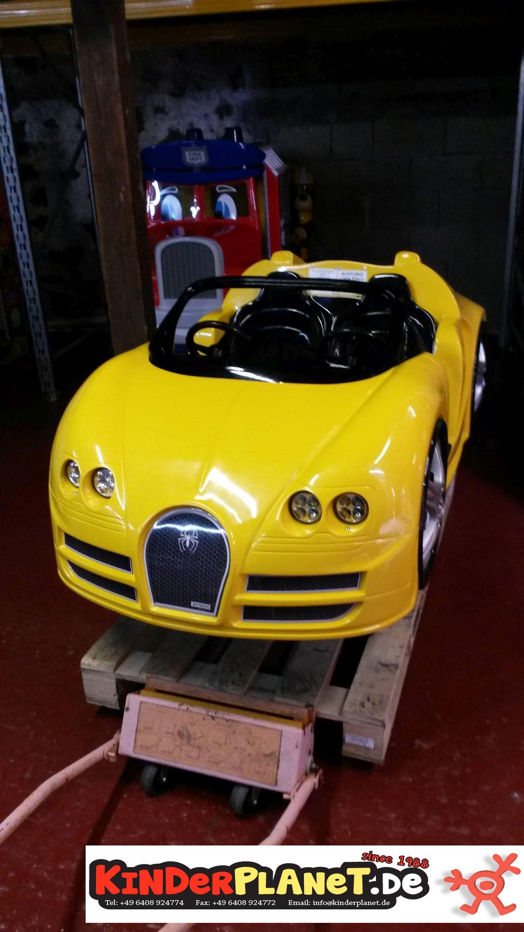 Rennwagen mit LED, Gelb