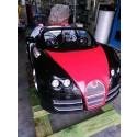Rennwagen mit LED, Rot-Schwarz