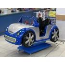 Polizei Roadster blau silber 2-sitzig