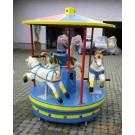 Karusell 3-sitzig mit Tierfiguren