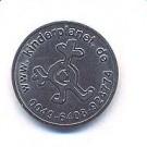 Wertmünze mit Kinderplanet Logo, zu 100 Stück gepackt