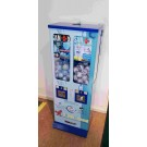 BLEIB GESUND Masken- und Hände-Desinfektionsmittel - Verkaufsautomat in blau