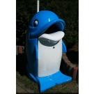 Sprechender Mülleimer Delphin mit LED