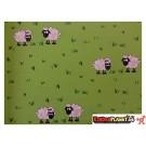 Geschenkpapier Schafe Grün