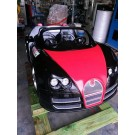 Rennwagen mit LED, Rot-Schwarz, im Bugatti-Look
