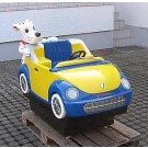 Berti Fun Bug -> Freundliches Auto mit lustigem HUND als Beifahrer!