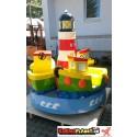 Leuchtturm Karussell mit DREI Booten