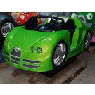 Rennwagen mit LED, grün-metallic