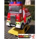 Feuerwehrauto mit Wilder Bewegung