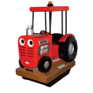 Troy the Tractor, red