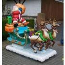 Großer Weihnachtsmann-Schlitten