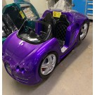 Rennwagen mit LED, violett-metallic