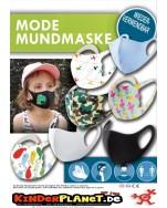 Modische Stoff MUND- und NASEN-Maske in 55 mm Kapsel -> Schützen Sie sich und andere!